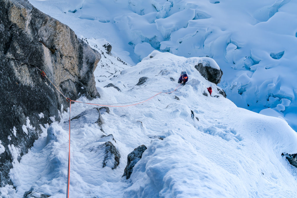 Alaska Range climbing trip with Katie Bono and Anne Gilbert Chase.